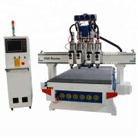 China Furniture Sculpture Wood Carving Router Machine , Woodworking CNC Machine 18KW wholesale