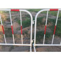 Buy cheap Galvanized Welded Pipe Heavy Barricade With Reflective Band from wholesalers