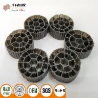 China PE06 MBBR Filter Media With Balck Color And  Virgin HDPE Material For 25*12mm Size wholesale