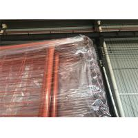China Orange Color RAL 2009 POWDER coated Temporary Security Fencing Panels 2.1mx2.4m OD 32mm wall thick 1.40mm wholesale