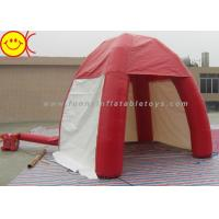 China Outdoor Lawn Event Mini 3m Inflatable Tent PVC Red Inflatable Dome Tent With Door wholesale
