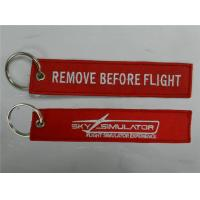 China Sky Simulator Flight Simulator Experience Remove Before Flight Embroidered Keychains Strap on sale