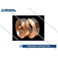 Quality ISO Standard Phosphor Bronze Alloy Copper Foil Rool , brass foil roll for sale