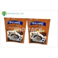 China Three Side Heat Sealed PET/VmPET/PE Heat Seal Closure Bag for Coffee Packaging on sale