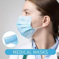China Blue White Disposable Surgical Face Mask Anti Dust High Filtration Capacity wholesale