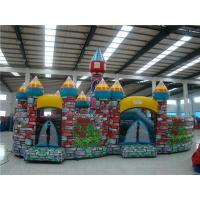 China Kindergarden / Park Outdoor Inflatable Games Fireproof 12 * 10m on sale