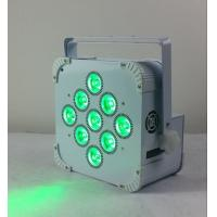 China 180W 9 LED Wireless Battery Flat Par Light , Battery Powered Led Stage Light wholesale
