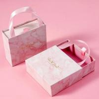 China Festival Jewelry Gift Box Packaging / Drawer Gift Box Paper Sliding with Handle on sale