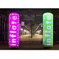China Colored Inflatable Pillar 2m Printing Inflatable Column With RC LED Inside wholesale