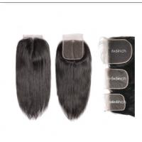 China 4X4 5x5 6x6 Straight Cambodian Virgin Hair Lace Closure Natural Color wholesale
