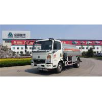 China Small HOWO120hp  Fuel Tanker Truck With 8m³Cube Loading SINOTRUK wholesale