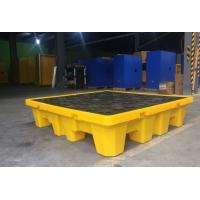 Oil Tank Storage HDPE Spill Containment yellow Pallets, Spill Pallet for 220L 4 Drums Stoarge