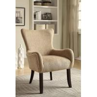 China Cream Upholstered Dining Chairs , Padded Kitchen Chairs  With Sturdy Birch Legs wholesale