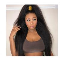 China No Synthetic Kinky Straight Indian Remy Human Hair Extensions For Black Ladies wholesale