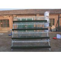 China Steel Battery Type Breeding Cages Poultry Farming Equipment With Trough wholesale