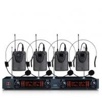 China Gooseneck Karaoke Four Channel Wireless Microphone System For Meeting on sale