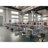 China Electric No Cylinder Medical Face Mask Making Machinery With 3 Line Energy Saving wholesale