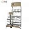 China Retail Journal Literature Newspaper Display Rack Floor Standing Metal Display Stand wholesale