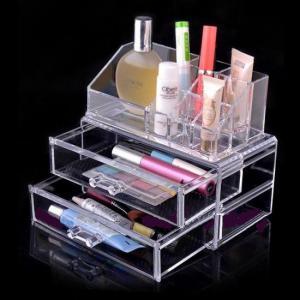 China Non-toxicity Acrylic Cosmetic Display / Portable acrylic makeup box wholesale