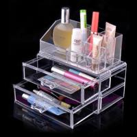 China Non-toxicity Acrylic Cosmetic Display / Portable acrylic makeup box wholesale