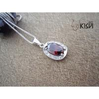 China Fashion Jewelry 925 Sterling Silver Gemstone Pendant with Zircon W-VB990 wholesale