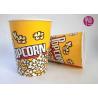 Buy cheap 32oz Single Wall Double PE Disposable Popcorn Buckets / Flexo Print from wholesalers