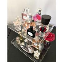 China 3 Tier Acrylic Display Stand/  Square Acrylic Makeup Display Stand Perfume Trays Transparent wholesale