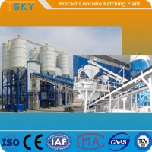 China AC 380V 50HZ 30m³/H Precast Concrete Batch Plant wholesale
