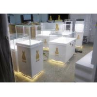 China Retail Shop Museum Display Cases High Glossy White Color 12V Output Power wholesale