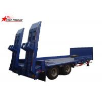 China 2/3/4/ Axles Hydraulic Low Bed Semi Trailer 40-100 Tons Gooseneck Type on sale