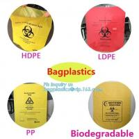 China Disposable Autoclavable Biohazard Bags Medical Consumables Colorful Infectious wholesale