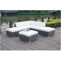China 6-piece  L shape rattan wicker outdoor furniture modular sofa commercial furniture-YS5755 wholesale