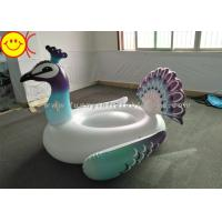 China Inflatable Peacock Swimming Pool Floats Ride On Party Tube Giant Raft Lounge Toy wholesale