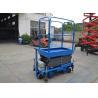 China Blue Push Motorcycle Scissor Lift  Platform 3 Meter High / 500Kg Loading wholesale