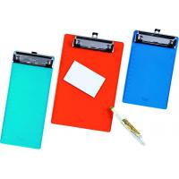 China Custom Size Rainproof PVC Clip Board 2mm With Wire Clip For Menu Writing wholesale