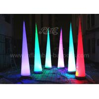 China 210D Oxford Cloth Inflatable Cone , Inflatable LED Tube Lighting Tip Cone wholesale