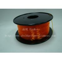 Quality Orange Flexible 3D Printer Filament Consumables With Great Adhesion for sale
