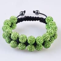 China High quality CZ crystal 10mm green Shamballa Bangle Bracelet with timely delivery wholesale