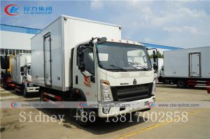 China Sinotruk HOWO 5 Ton Small Refrigerator Truck Refrigerated Insulated Van Box Truck wholesale