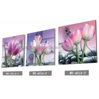 Quality Decoration Flower Pictures Custom Lenticular Printing Frameless PET Printing for sale