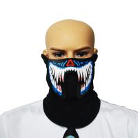 Buy cheap 2018  sound activated  LED/EL mask for festival Parties A scary light up Cosplay el Costume Mask supply for dance party from wholesalers