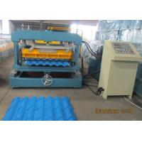 China Glazed Metal Tile Forming Speed 4m/min  Roof Tile Roll Forming Machine 380V/3Phase/50HZ wholesale