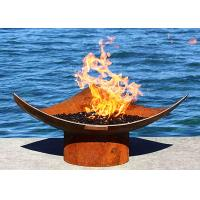 China Corten Steel Modern Fire Bowls Outdoor , Large Metal Fire Pit 50cm Height wholesale