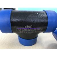 """China ASTM A860 WPHY60 / 42 / 52 / 65 / 70/ 80 TEE , ELBOW 2"""" SCH80 BW ASME B16.9 Black Surface OR Color Coating wholesale"""