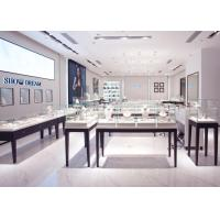 China OEM Showroom Display Cases , Fashion Jewellery Shop Interior Design Plans wholesale