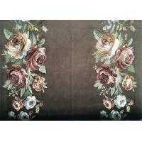 China Polyester Embroidered Curtain Fabric / Velvet Embroidered Fabric wholesale