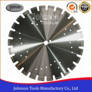 China Standard 450mm Asphalt Cutting Blades Wide U Slots Laser Welded Diamond Saw Blades on sale