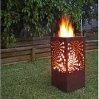China Dia30 Round Big Moon And Star Corten Garden Fire Pit Ring on sale