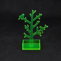 China Translucent Green Acrylic Jewellery Display Stands With Tree Shape wholesale
