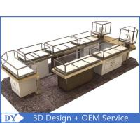 Buy cheap Custom Shopping Mall Jewelry Display Counter / Shop Display Cabinets from wholesalers